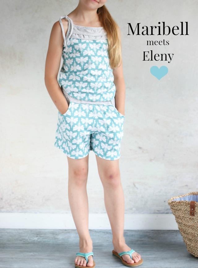 Jumpsuit aus Jersey selber nähen Schnitt Eleny von Kibadoo Stoff Maribell Design Lila Lotta