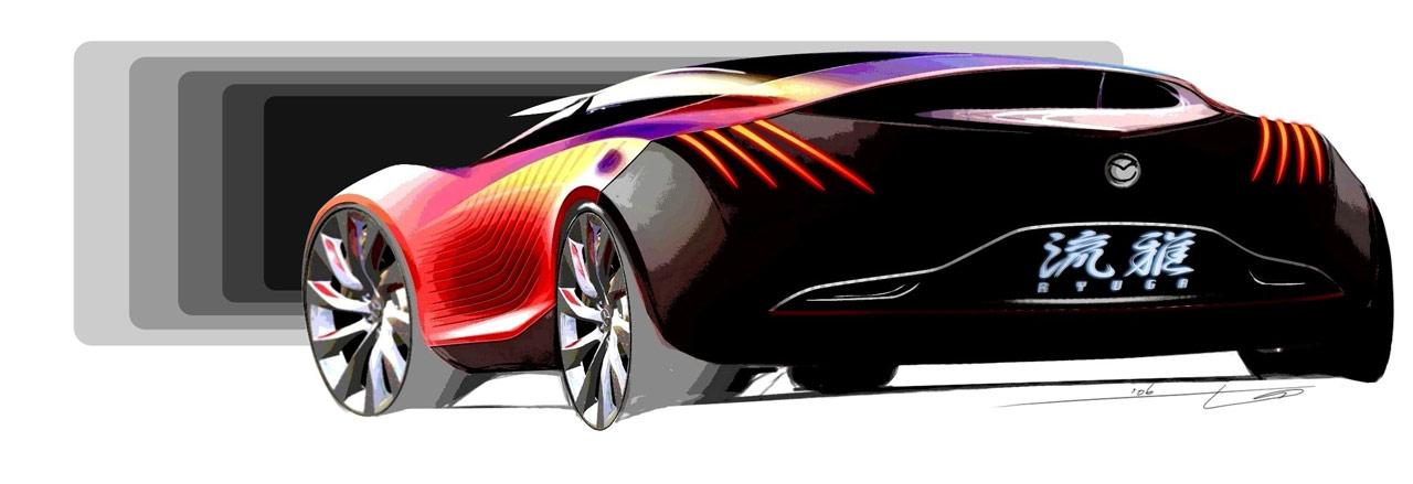 mazda ryuga   2007 supercar sketches gallery