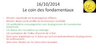 news boursières actualités économiques 16/10/2014