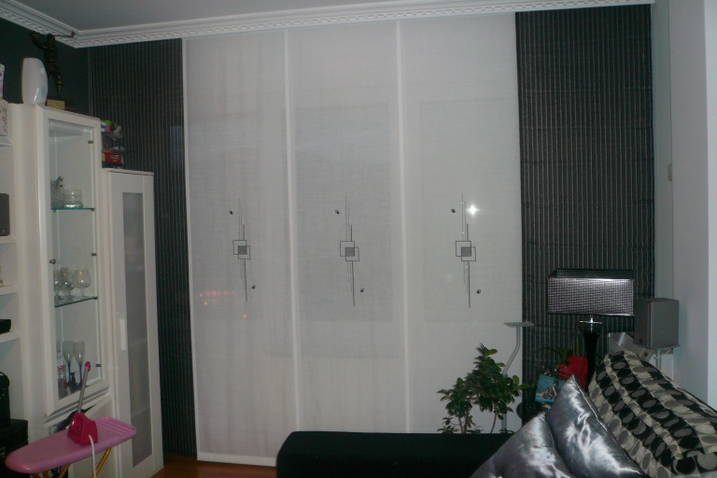 Decorar con cortinas y mucho m s paneles japoneses - Cortinas de paneles japoneses ...
