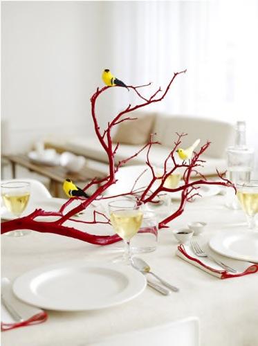 Love blooms wedding event design bird themed centerpieces