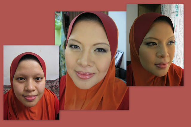 makeup to contour nose, slim face