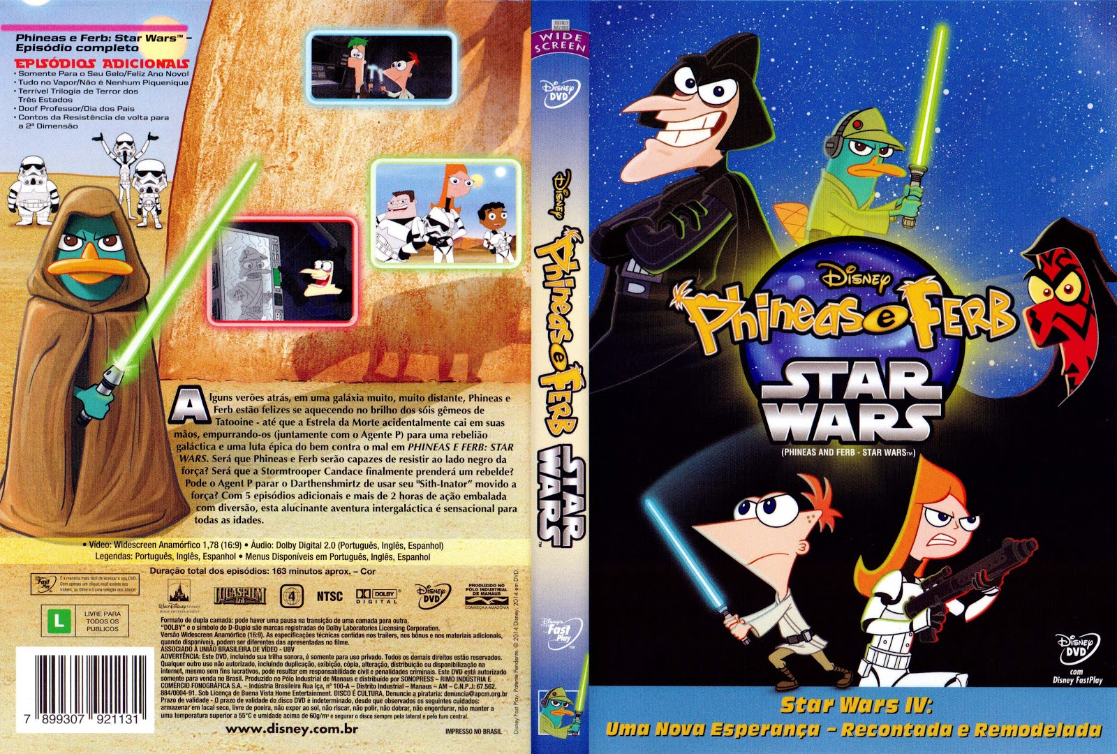 Capa DVD Phineas E Ferb Star Wars