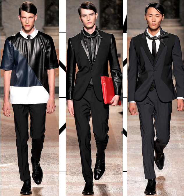 les hommes spring 2014 leather suits