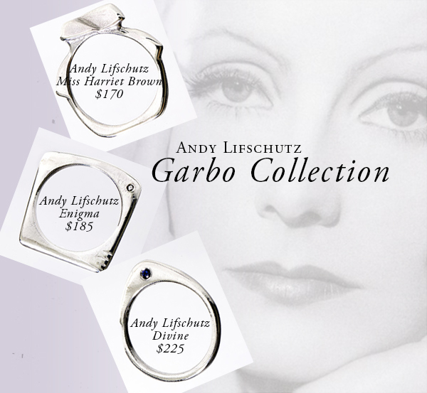 Garbo-inspired statement rings by Andy Lifschutz!  featured on shopalicious.com
