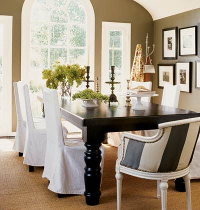 Nice slipcovers for chairs how dining room chair covers for Dining room chair cover ideas