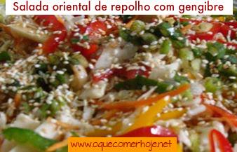 Salada oriental de repolho com gengibre