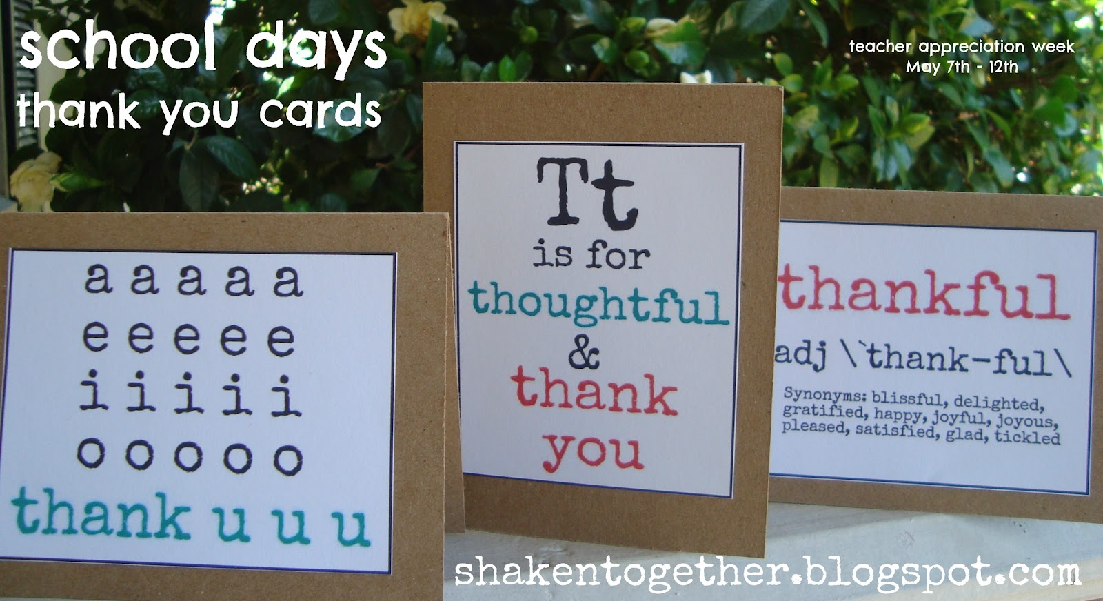 FREE Printable Teacher Thank You Cards Shaken Together – Free Printable Religious Thank You Cards