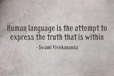 Human language is the attempt to express the truth that is within
