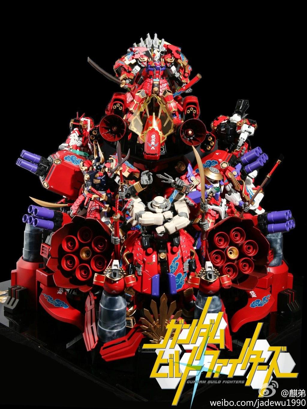 Custom Build Gundam Samurai Warriors Diorama Gundam