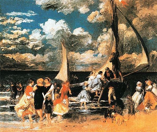 Пьер Огюст Ренуар. Возвращение с лодочной прогулки. Ок. 1862.