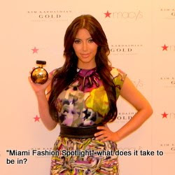 "Kim Kardashian kicked off with her new fragrance ""Gold"" at Macy's Aventura"