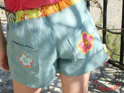 jupe short skort lin coton faux-wrap shorts derrière