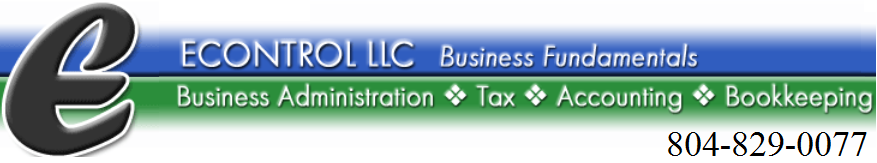 eControl - Tax Preparation, Accounting Services, Quickbooks, in Richmond, VA