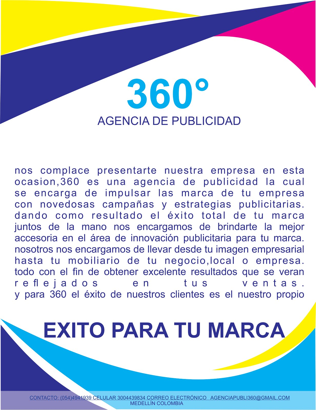 360 agencia de publicidad for Agencia de publicidad