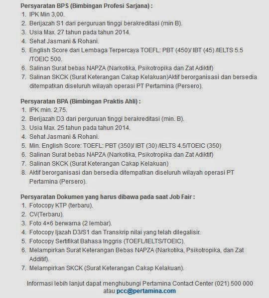 loker-pertamina-yogyakarta-terbaru-mei-2014