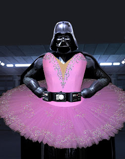 star wars darth vadar in a tutu costume