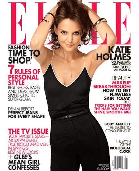 Katie Holmes Elle Magazine Wallpapers