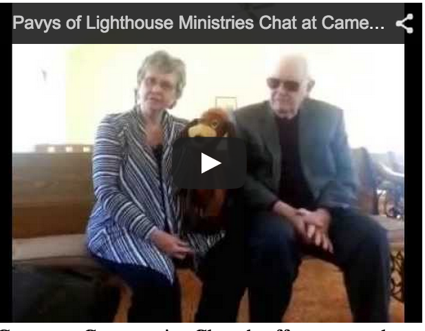 image Shirley and Roger Pavy with Rusty at Cameron Community Church Screen Shot