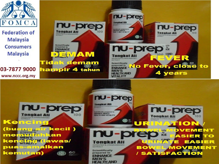 FOMCA-Federation of Malaysia Consumers Association. Nu-Prep100 clinical studies (evidence)