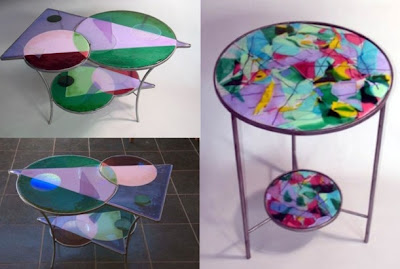 Stained glass table, Antique Table, Glass Table, Stained Table, Table