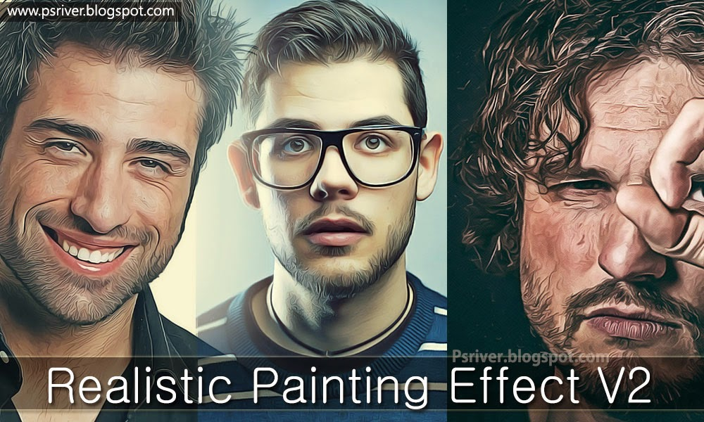 Painting Effect Photoshop Actions ~ Photoshop River - Free Download ...
