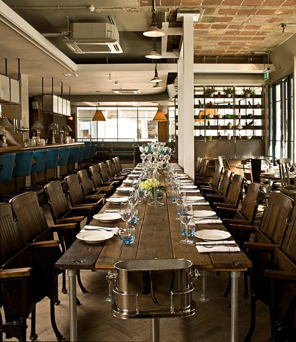 Restaurant Kitchen Pass: Kaper Design; Restaurant & Hospitality Design Inspiration: The Riding House Cafe