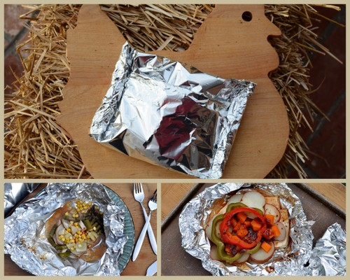 Tin Foil Chicken & Veggies, another Quick Supper ♥ KitchenParade.com, easy prep, great taste, fast cleanup. Rave reviews!