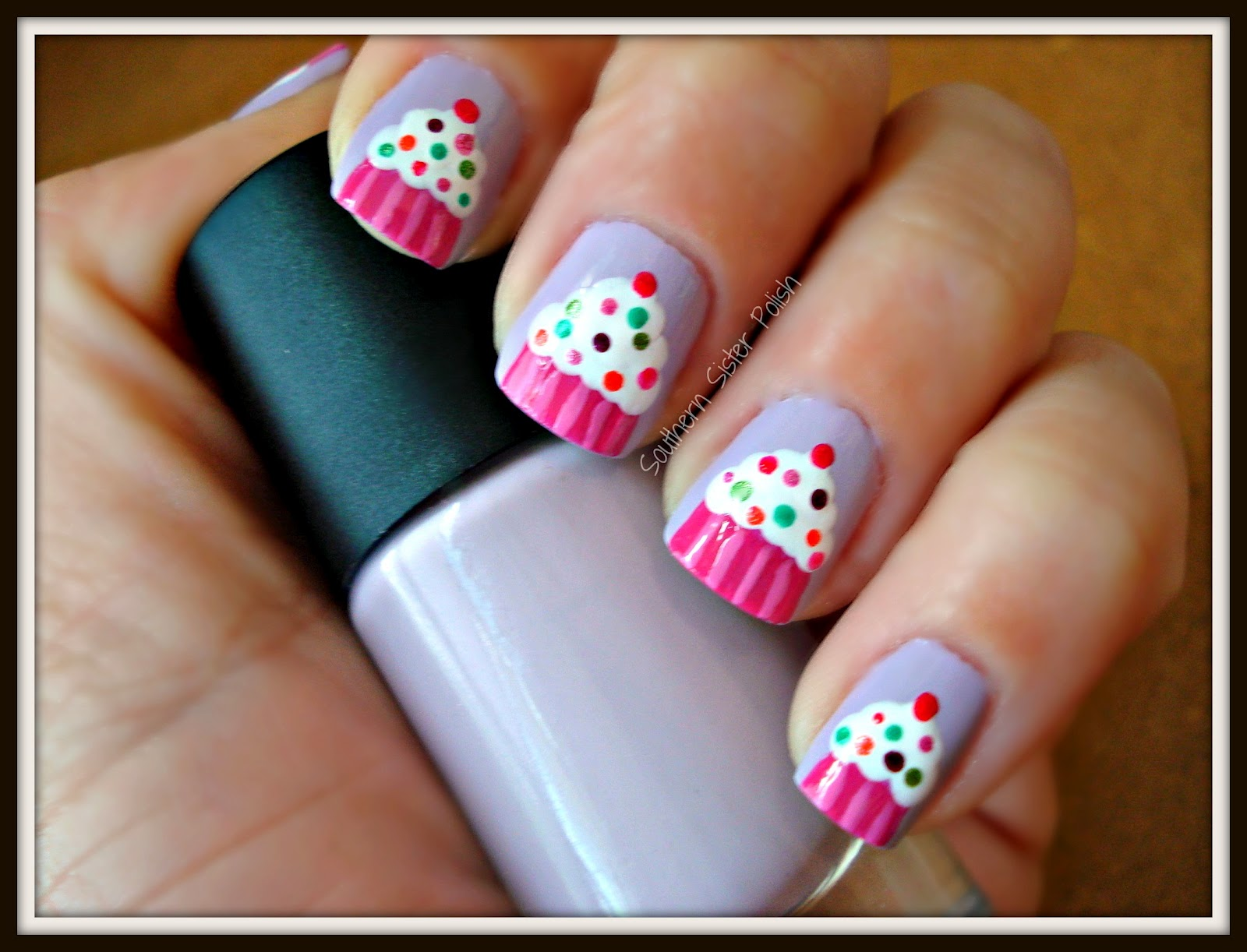 Southern sister polish nail art wednesday birthday cupcakes nail art wednesday birthday cupcakes prinsesfo Gallery
