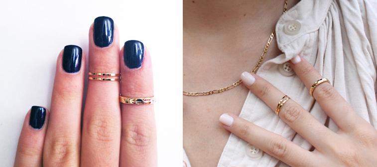 Style rebel chic los anillos midi for En que mano se usa el anillo de compromiso