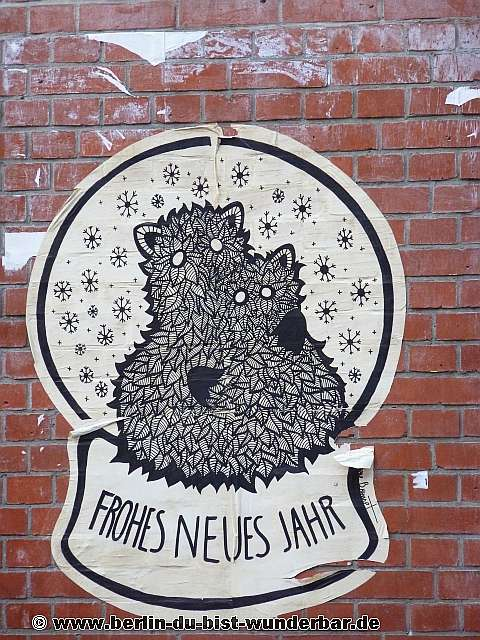 berlin, street art, graffiti, stickers, new year