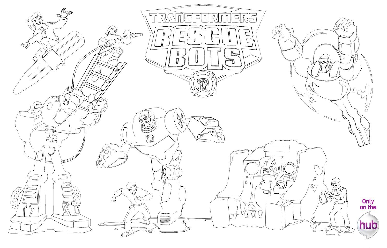 free coloring pages rescue bots boulder constructions bot