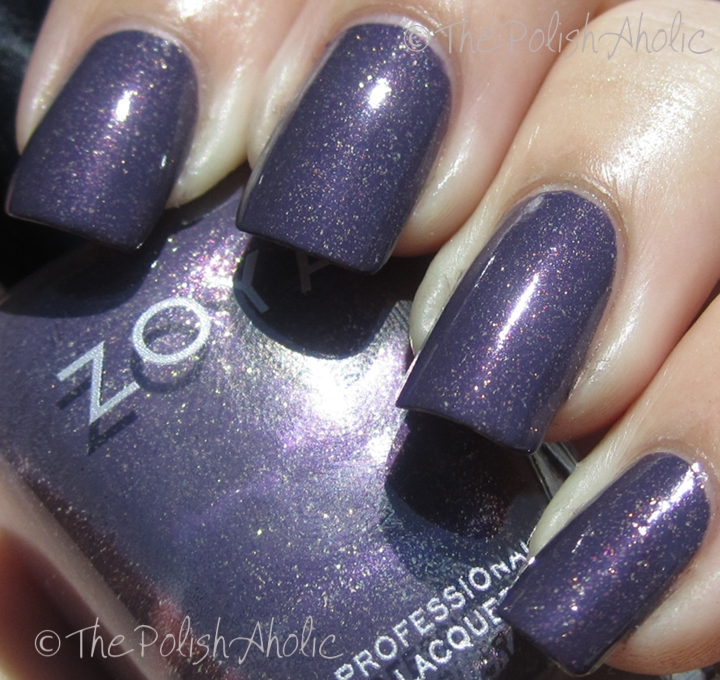 The polishaholic zoya fall 2011 mirrors collection swatches nimue is a silvery lilac it has the same finish as maria does the formula was really great on this one it went on a bit streaky but leveled itself out reheart Images
