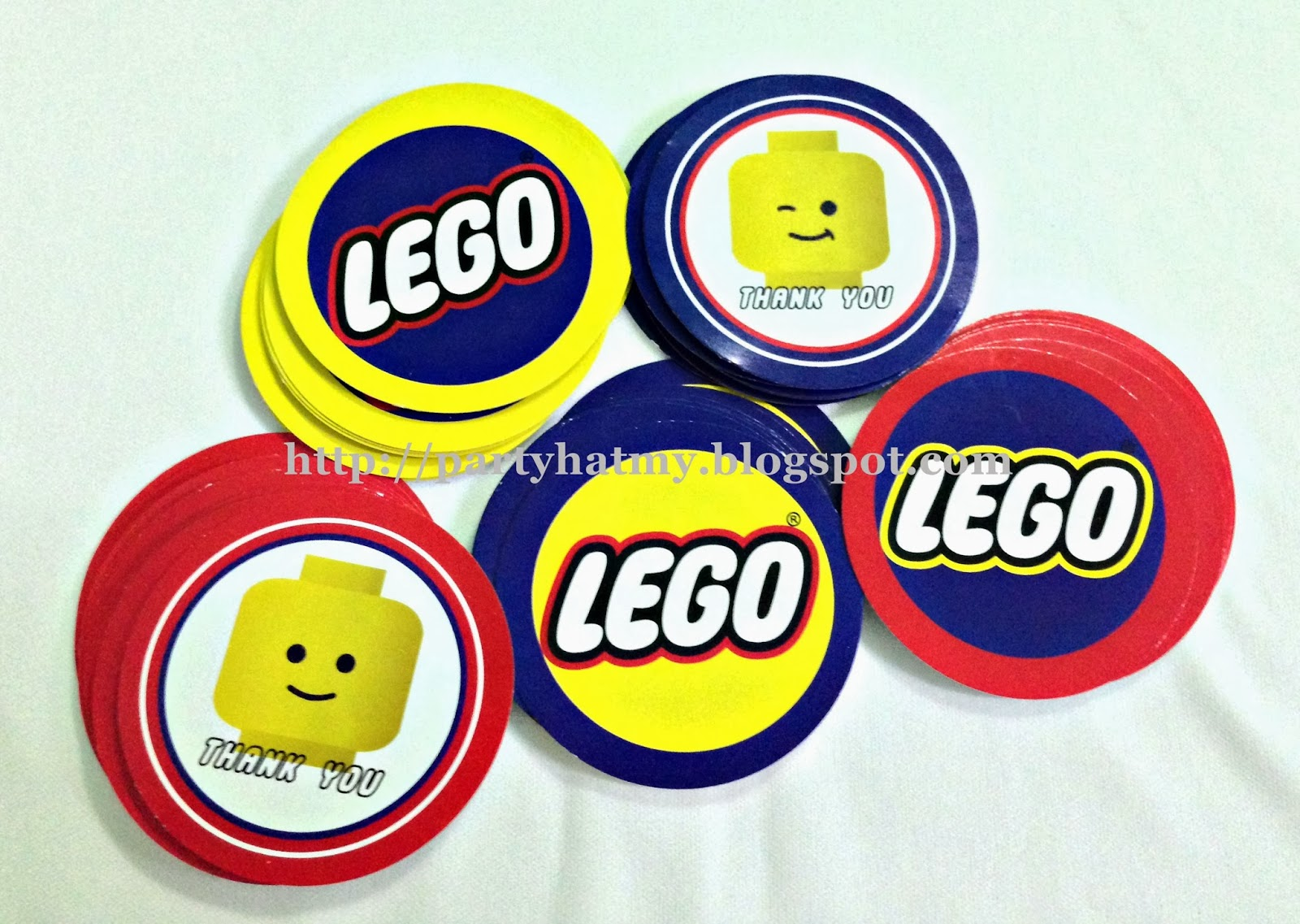 LEGO Theme Round Tags