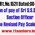 Go 1521 Fixation of pay of Sri S.S.Sudhakar, Section Officer in the Revised Pay Scales, 2015
