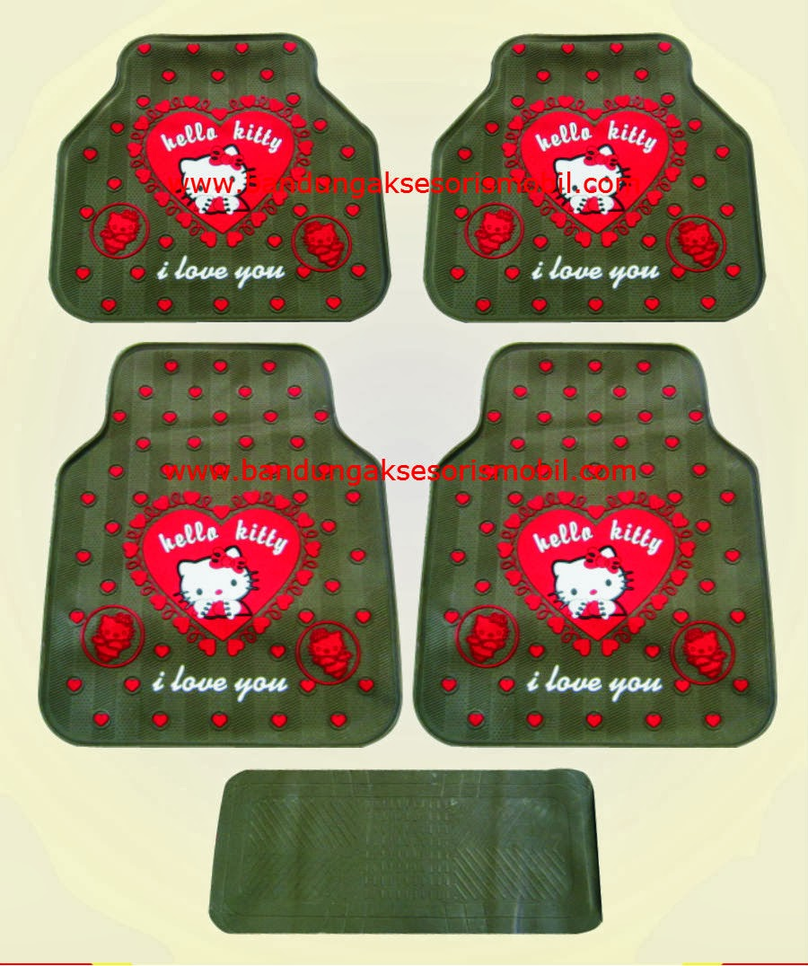 Karpet Hello Kitty 1 Love Coklat