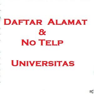 alamat dan no telp universitas di jakarta