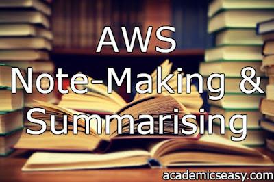 Note-Making & Summarising