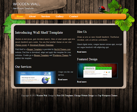 Wooden Wall Blogger Theme