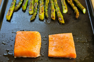 ... Roasted Salmon and Asparagus Salad with Mustard Vinaigrette (Sheet Pan