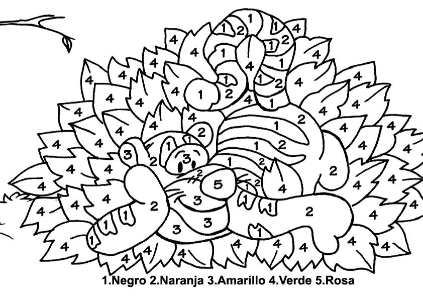 Dibujos con numeros para colorear - Imagui