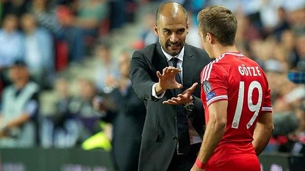 Guardiola y Mario Gotze