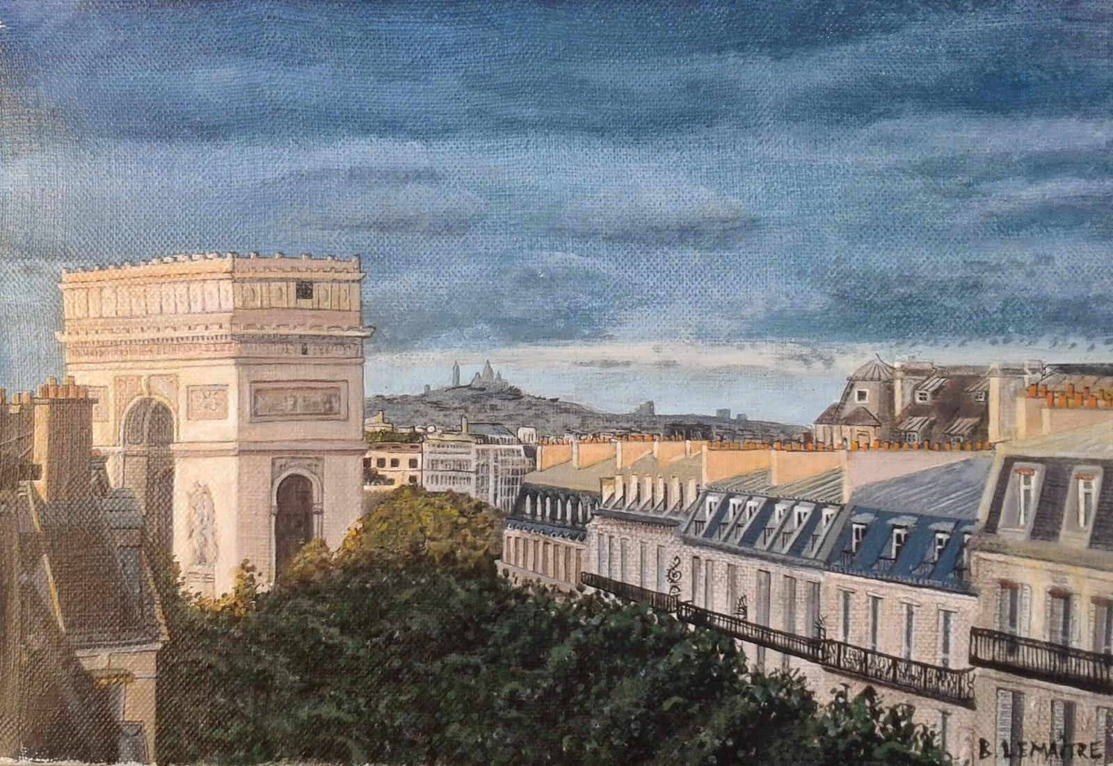 Vue sur l'Arc de Triomphe