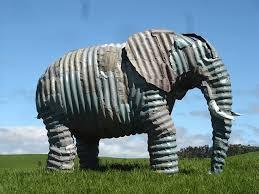 Jeff Thompson elephant sculpture