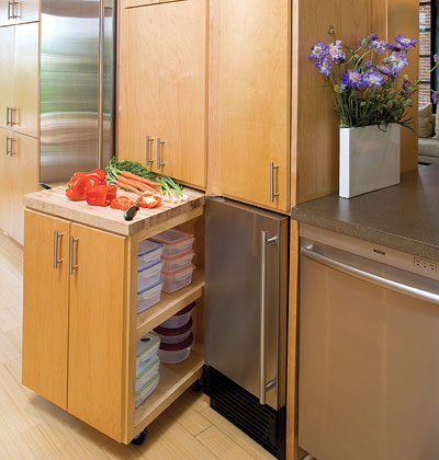 Built in storage ideas home interior design for Unique kitchen islands for small spaces