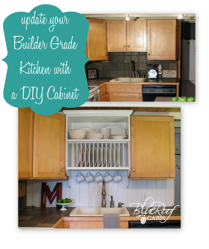 Kitchen Cabinets Upgrade: Blue Roof Cabin: Update A Builder Grade Kitchen With A DIY