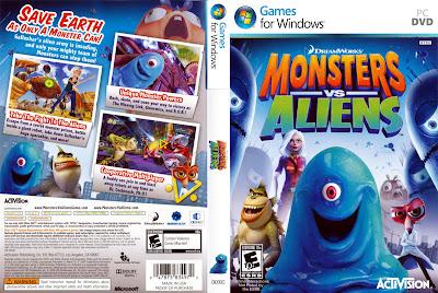 Monsters vs. Aliens The Game PC DVD Capa