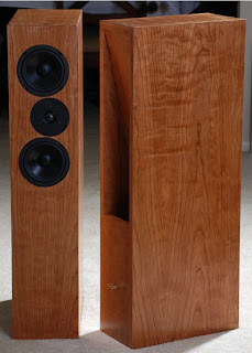 figured cherry speakers