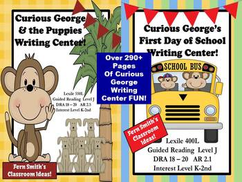 Curious George Discounted Bundle of Writing Center for Common Core