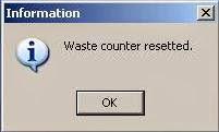 SSC Service Utility - Reset concluído